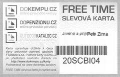 FREE TIME discount card